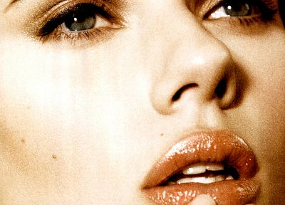 Scarlett Johansson, actress, faces, magazine scans - random desktop wallpaper