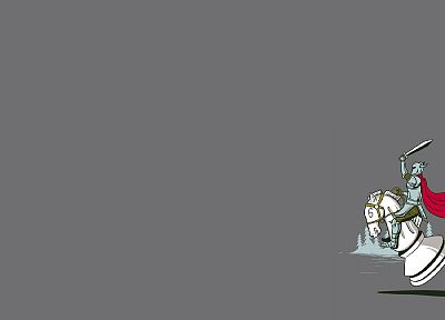 minimalistic, knights, chess - desktop wallpaper