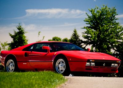 red, cars, Ferrari, Pininfarina, side view, Ferrari 288 GTO, Ferrari GTO - related desktop wallpaper