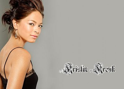 brunettes, women, actress, Kristin Kreuk - random desktop wallpaper