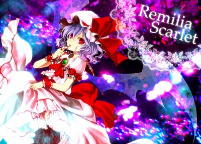 video games, Touhou, vampires, Remilia Scarlet - random desktop wallpaper