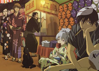 Darker Than Black, Hei, Kirihara Misaki, Yin, Mao (Darker Than Black), Yuusuke Saitou, Yutaka Kouno - related desktop wallpaper