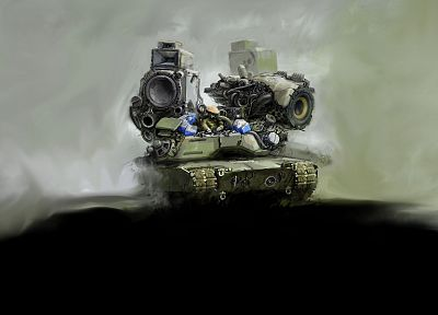 speakers, tanks - random desktop wallpaper