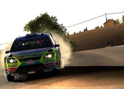 video games, cars, rally, Gran Turismo 5, Playstation 3, rally cars, GT5, Ford Focus WRC, racing cars - desktop wallpaper