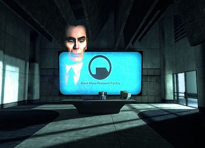 Half-Life, Black Mesa, G-Man - random desktop wallpaper