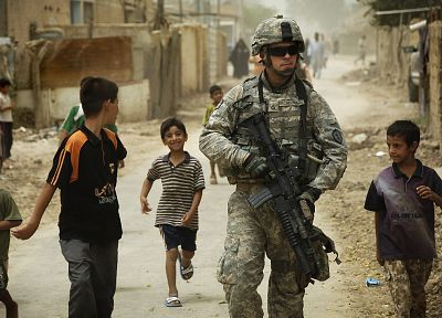 soldiers, army, military, men, children - random desktop wallpaper
