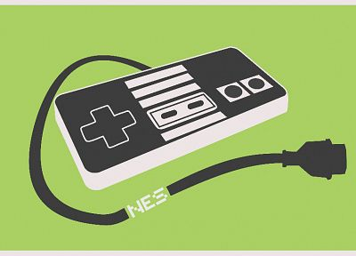 Nintendo, minimalistic, nes game console - desktop wallpaper