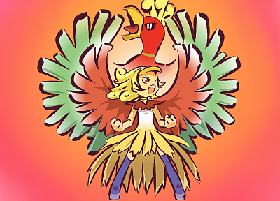 Pokemon, Ho-oh, Gijinka - desktop wallpaper
