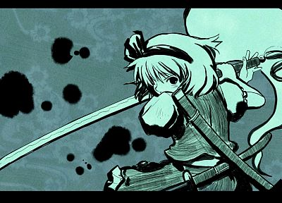green, video games, Touhou, Konpaku Youmu - related desktop wallpaper