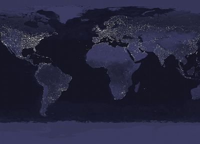 night, Earth, maps - random desktop wallpaper