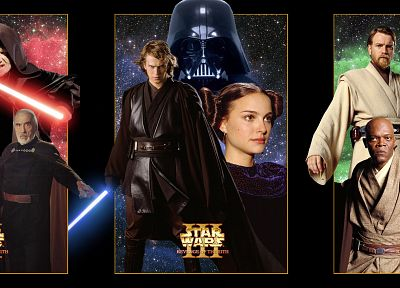 Star Wars, lightsabers, Darth Vader, Sith, Luke Skywalker, Padme Amidala, Yoda, Obi-Wan Kenobi, Revenge of the Sith - random desktop wallpaper