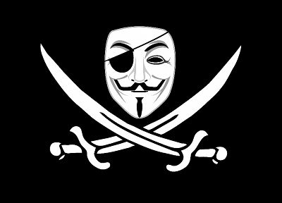 pirates, V for Vendetta, Jolly Roger - random desktop wallpaper