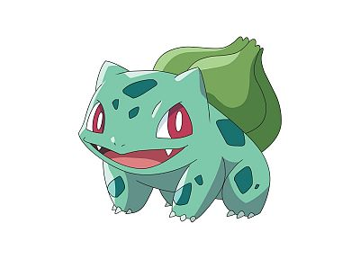 Pokemon, Bulbasaur, simple background, white background - desktop wallpaper