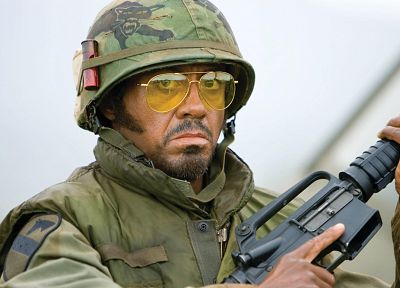 Robert Downey Jr, Tropic Thunder, men with glasses - random desktop wallpaper