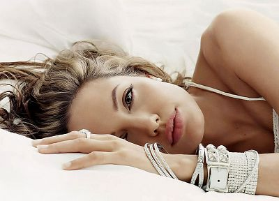 women, Angelina Jolie, celebrity, bracelets, faces - random desktop wallpaper