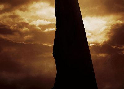 clouds, Batman Begins, movie posters - related desktop wallpaper