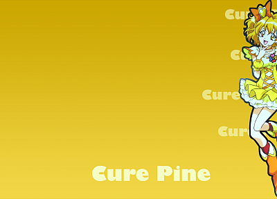 Pretty Cure, simple background, Cure Pine - random desktop wallpaper