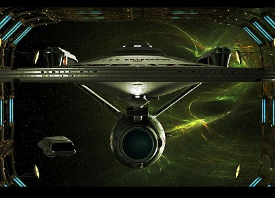 outer space, dock, Star Trek, nebulae, USS Enterprise - related desktop wallpaper