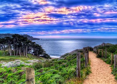 ocean, landscapes, HDR photography - random desktop wallpaper
