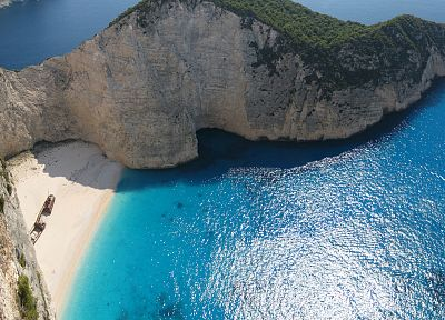 mountains, ocean, islands, Greece, Zakynthos, beaches - random desktop wallpaper