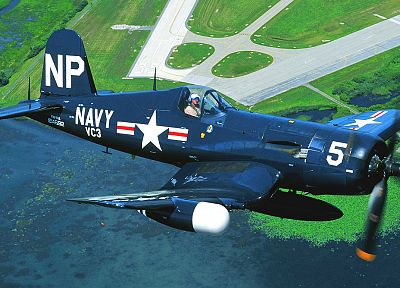 aircraft, navy, Warbird, F4U Corsair - random desktop wallpaper