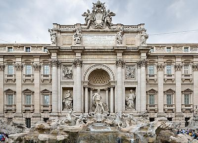 Rome, trevi fountain - random desktop wallpaper