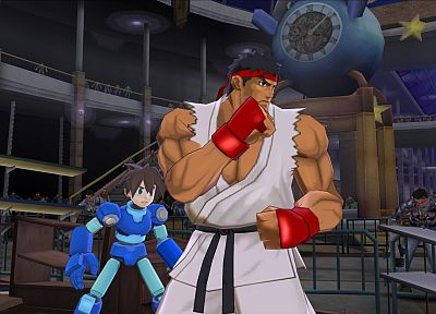 video games, Mega Man, Ryu, Capcom - random desktop wallpaper