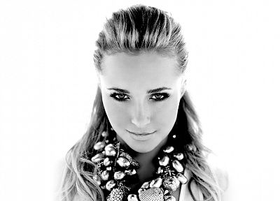 women, actress, Hayden Panettiere, celebrity, grayscale, monochrome, white background - related desktop wallpaper