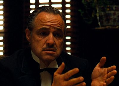 film, The Godfather, Marlon Brando - related desktop wallpaper