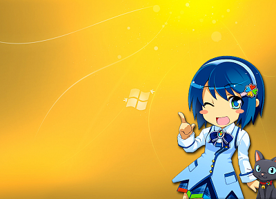 Windows 7, tan, Madobe Nanami, OS-tan - random desktop wallpaper