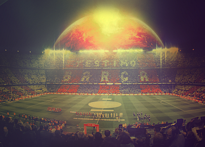 match, stadium, FC Barcelona, El Clasico - random desktop wallpaper