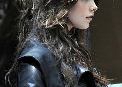 leather, Ashley Greene, leather jacket - random desktop wallpaper