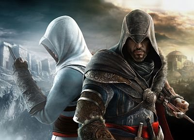 video games, Altair Ibn La Ahad, Ezio, Assassins Creed Revelations - related desktop wallpaper