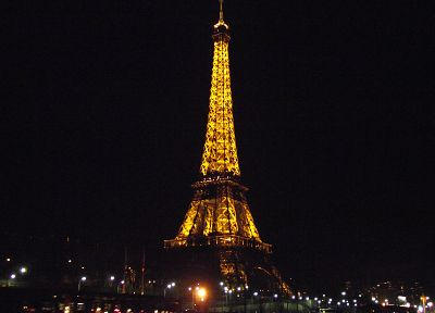 Eiffel Tower, Paris, cityscapes, night, lights, France, Europe - random desktop wallpaper