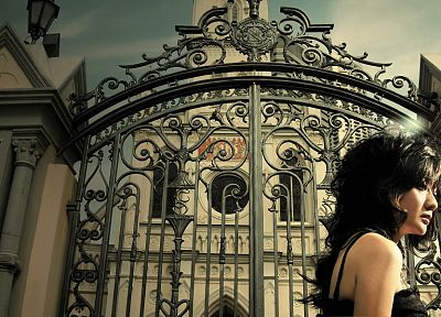 iron, gate, churches - random desktop wallpaper