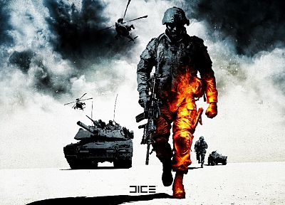 video games, Battlefield, dice, Battlefield Bad Company 2 - desktop wallpaper