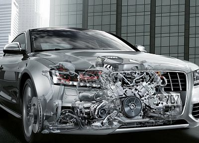 cars, Audi, X-Ray, engine - random desktop wallpaper