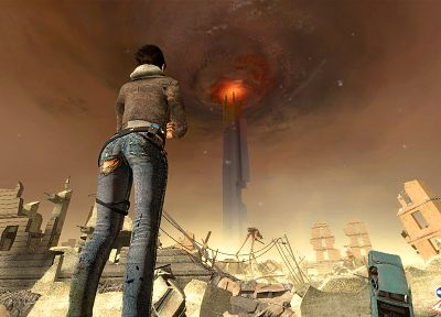 video games, explosions, Alyx Vance, Half-Life 2 - random desktop wallpaper