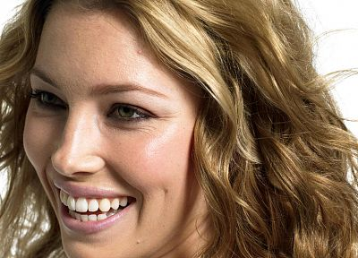 blondes, women, models, Jessica Biel, faces - desktop wallpaper