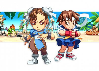 Street Fighter, Sakura, Chun-Li, Chinese clothes - random desktop wallpaper