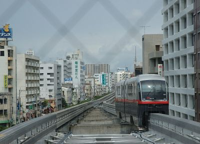 Japan, trains, okinawa, vehicles, cities - random desktop wallpaper