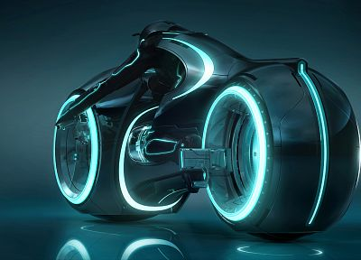 Tron, Tron Legacy, lightcycle - random desktop wallpaper