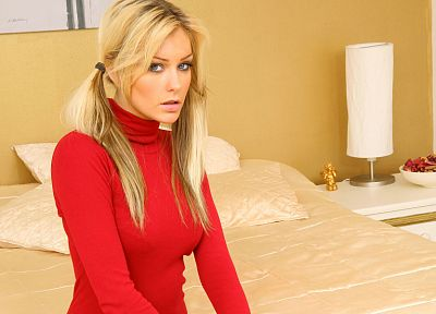 blondes, women, beds, bedroom, Natasha Marley - random desktop wallpaper