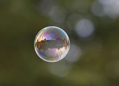 bubbles, depth of field, reflections - desktop wallpaper