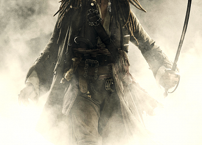 movies, pirates, Pirates of the Caribbean, Johnny Depp, Captain Jack Sparrow, swords - random desktop wallpaper