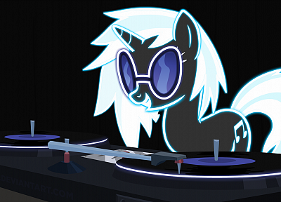 My Little Pony, Vinyl Scratch, DJ Pon-3 - random desktop wallpaper
