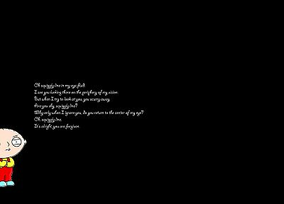 quotes, Stewie Griffin, black background - desktop wallpaper