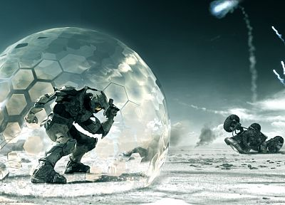video games, Halo, Master Chief, shield - random desktop wallpaper