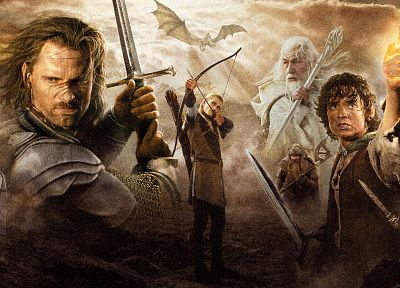 The Lord of the Rings, posters, The Return of the King - random desktop wallpaper