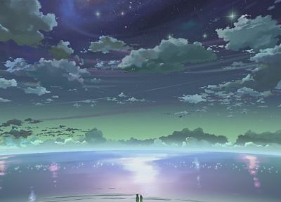 clouds, Makoto Shinkai, 5 Centimeters Per Second, skyscapes - related desktop wallpaper